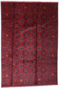 Afghan Khal Mohammadi Matta 198X296 Äkta Orientalisk Handknuten Mörkröd/Röd (Ull, Afghanistan)