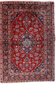 Keshan Matta 100X147 Äkta Orientalisk Handknuten Mörkröd/Mörklila (Ull, Persien/Iran)