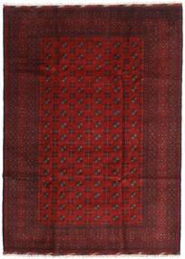 Afghan Matta 205X284 Äkta Orientalisk Handknuten Mörkröd/Mörkbrun (Ull, Afghanistan)