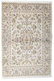 Keshan Matta 100X148 Äkta Orientalisk Handknuten Ljusgrå/Beige (Ull, Persien/Iran)