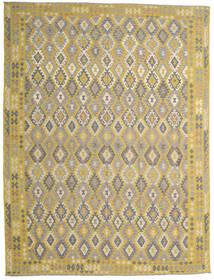 Kelim Afghan Old Style Matta 302X404 Äkta Orientalisk Handvävd Ljusgrå/Gul Stor (Ull, Afghanistan)