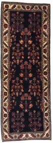 Gabbeh Kashkooli Matta 82X223 Äkta Modern Handknuten Hallmatta Mörkbrun/Mörkröd (Ull, Persien/Iran)