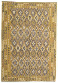 Kelim Afghan Old Style Matta 204X298 Äkta Orientalisk Handvävd Ljusbrun/Gul (Ull, Afghanistan)