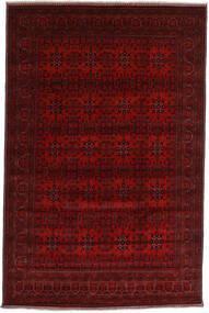 Kunduz Matta 196X298 Äkta Orientalisk Handknuten Mörkröd/Mörkbrun (Ull, Afghanistan)