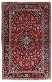 Keshan Matta 98X158 Äkta Orientalisk Handknuten Mörkröd/Mörkblå (Ull, Persien/Iran)