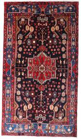 Nahavand Matta 142X257 Äkta Orientalisk Handknuten Mörkröd/Svart (Ull, Persien/Iran)