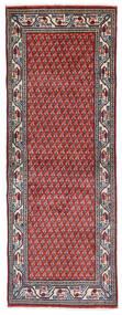 Sarough Mir Matta 74X204 Äkta Orientalisk Handknuten Hallmatta Mörklila/Ljusgrå (Ull, Persien/Iran)