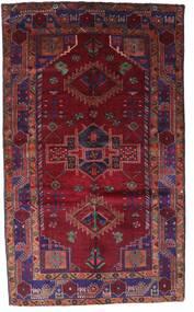 Lori Matta 150X251 Äkta Orientalisk Handknuten Mörkröd/Mörklila (Ull, Persien/Iran)