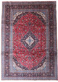 Keshan Matta 247X344 Äkta Orientalisk Handknuten Mörklila/Ljuslila (Ull, Persien/Iran)