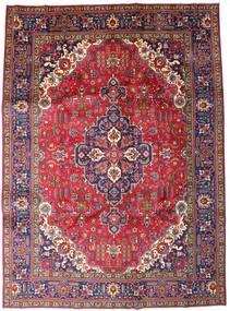 Tabriz Matta 246X335 Äkta Orientalisk Handknuten Mörkröd/Mörklila (Ull, Persien/Iran)
