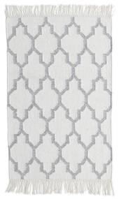 Bambu Silke Kelim Matta 60X90 Äkta Modern Handvävd Ljusgrå/Vit/Cremefärgad (Ull/Bambusilke, Indien)