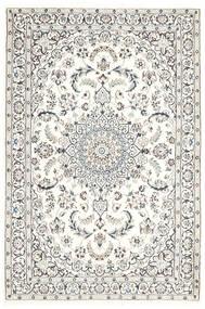 Nain 9La Matta 115X175 Äkta Orientalisk Handknuten Ljusgrå/Beige (Ull/Silke, Persien/Iran)