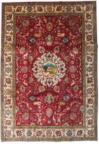 Tabriz Matta 246X355 Äkta Orientalisk Handknuten Mörkröd/Mörkbrun (Ull, Persien/Iran)
