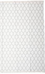 Bambu Silke Kelim Matta 200X300 Äkta Modern Handvävd Vit/Cremefärgad/Beige/Ljusgrå (Ull/Bambusilke, Indien)