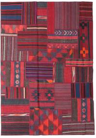 Tekkeh Kelim Matta 161X230 Äkta Modern Handvävd Röd/Mörkröd (Ull, Persien/Iran)