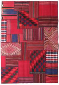 Tekkeh Kelim Matta 161X231 Äkta Modern Handvävd Röd/Mörkröd (Ull, Persien/Iran)