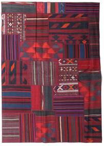 Tekkeh Kelim Matta 161X228 Äkta Modern Handvävd Mörkröd/Mörkblå (Ull, Persien/Iran)