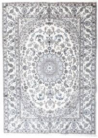 Nain Matta 241X340 Äkta Orientalisk Handknuten Ljusgrå/Vit/Cremefärgad (Ull, Persien/Iran)