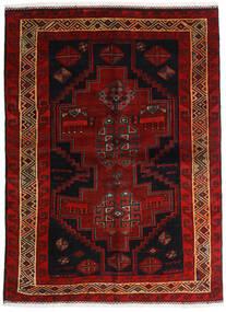 Lori Matta 156X211 Äkta Orientalisk Handknuten Mörkbrun/Mörkröd (Ull, Persien/Iran)