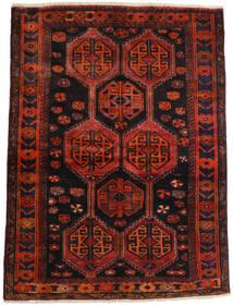 Lori Matta 147X197 Äkta Orientalisk Handknuten Mörkröd/Roströd (Ull, Persien/Iran)