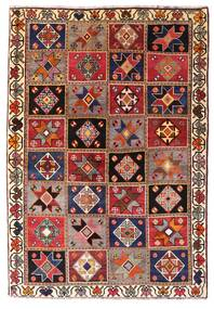 Ghashghai Matta 136X197 Äkta Orientalisk Handknuten Mörkröd/Mörkbrun (Ull, Persien/Iran)