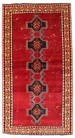 Shiraz Matta 122X226 Äkta Orientalisk Handknuten Roströd/Mörkröd (Ull, Persien/Iran)