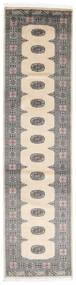 Pakistan Bokhara 2Ply Matta 80X317 Äkta Orientalisk Handknuten Hallmatta Beige/Ljusgrå/Mörkgrå (Ull, Pakistan)