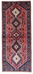 Yalameh Matta 83X196 Äkta Orientalisk Handknuten Hallmatta Mörklila/Mörkblå (Ull, Persien/Iran)