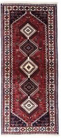 Yalameh Matta 83X190 Äkta Orientalisk Handknuten Hallmatta Mörkröd (Ull, Persien/Iran)