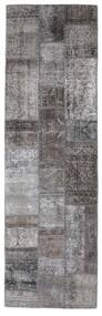 Patchwork - Persien/Iran Matta 76X252 Äkta Modern Handknuten Hallmatta Mörkgrå/Mörkbrun (Ull, Persien/Iran)