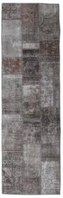 Patchwork - Persien/Iran Matta 76X253 Äkta Modern Handknuten Hallmatta Mörkgrå/Mörkbrun/Brun (Ull, Persien/Iran)