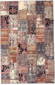 Patchwork - Persien/Iran Matta 195X298 Äkta Modern Handknuten Mörkröd/Beige (Ull, Persien/Iran)