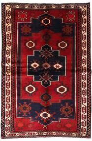 Lori Matta 155X231 Äkta Orientalisk Handknuten Mörkröd (Ull, Persien/Iran)