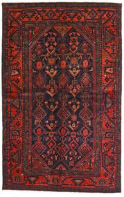 Lori Matta 137X218 Äkta Orientalisk Handknuten Mörkblå/Mörkröd (Ull, Persien/Iran)
