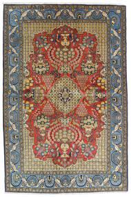 Ghom Kork/Silke Matta 136X203 Äkta Orientalisk Handknuten Svart/Mörkgrå (Ull/Silke, Persien/Iran)