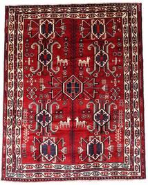 Lori Matta 195X246 Äkta Orientalisk Handknuten Mörkröd (Ull, Persien/Iran)