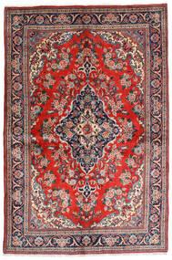 Sarough Sherkat Farsh Matta 141X212 Äkta Orientalisk Handknuten Mörkgrå/Roströd (Ull, Persien/Iran)