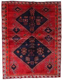 Lori Matta 172X226 Äkta Orientalisk Handknuten Röd/Mörklila (Ull, Persien/Iran)