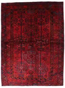 Lori Matta 174X230 Äkta Orientalisk Handknuten Mörkröd (Ull, Persien/Iran)