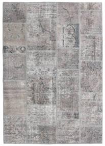Patchwork - Persien/Iran Matta 140X200 Äkta Modern Handknuten Ljusgrå/Mörkgrå (Ull, Persien/Iran)