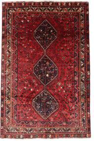 Shiraz Matta 183X278 Äkta Orientalisk Handknuten Mörkröd (Ull, Persien/Iran)