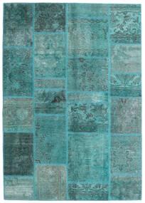 Patchwork - Persien/Iran Matta 140X200 Äkta Modern Handknuten Turkosblå/Turkosblå (Ull, Persien/Iran)