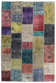 Patchwork - Persien/Iran Matta 135X201 Äkta Modern Handknuten Mörkgrå/Ljusgrå (Ull, Persien/Iran)