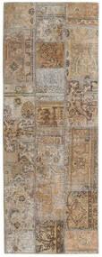 Patchwork - Persien/Iran Matta 77X204 Äkta Modern Handknuten Hallmatta Ljusgrå/Ljusbrun (Ull, Persien/Iran)