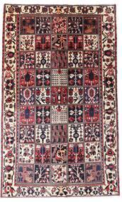 Bakhtiar Matta 160X260 Äkta Orientalisk Handknuten Mörkbrun/Mörkröd (Ull, Persien/Iran)