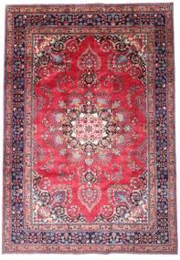 Mashad Matta 203X290 Äkta Orientalisk Handknuten Mörklila/Rosa (Ull, Persien/Iran)