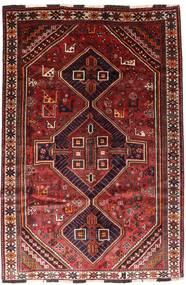 Shiraz Matta 166X246 Äkta Orientalisk Handknuten Mörkröd/Roströd (Ull, Persien/Iran)