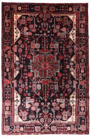 Nahavand Matta 163X247 Äkta Orientalisk Handknuten Mörkröd (Ull, Persien/Iran)