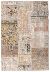 Patchwork - Persien/Iran Matta 108X156 Äkta Modern Handknuten Ljusgrå/Vit/Cremefärgad (Ull, Persien/Iran)