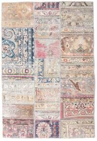 Patchwork - Persien/Iran Matta 108X159 Äkta Modern Handknuten Ljusgrå/Ljusrosa/Vit/Cremefärgad (Ull, Persien/Iran)